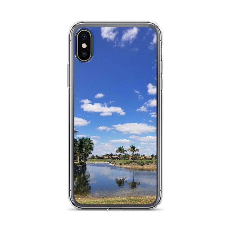 """A Day on the Course"" iPhone Case-Phone Case-Tropical Scenery-iPhone X/XS-Tropical Scenery"