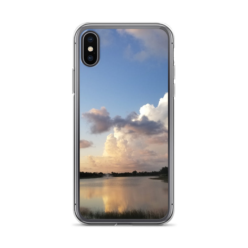 """Golden Haze"" iPhone Case-Phone Case-Tropical Scenery-iPhone X/XS-Tropical Scenery"
