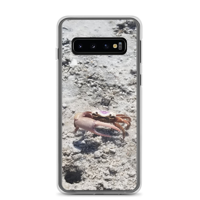"""Monsieur Crab"" Samsung Case-Phone Case-Tropical Scenery-Samsung Galaxy S10-Tropical Scenery"