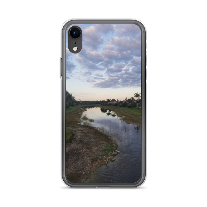 """River Sky"" iPhone Case-Phone Case-Tropical Scenery-iPhone XR-Tropical Scenery"