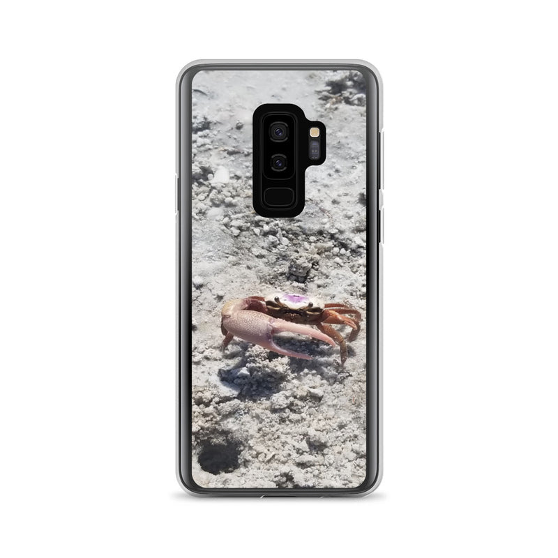 """Monsieur Crab"" Samsung Case-Phone Case-Tropical Scenery-Samsung Galaxy S9+-Tropical Scenery"
