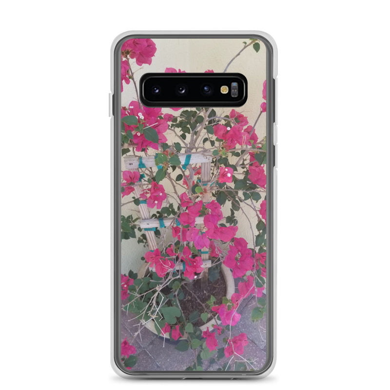 """Pretty in Pink"" Samsung Case-Phone Case-Tropical Scenery-Samsung Galaxy S10-Tropical Scenery"
