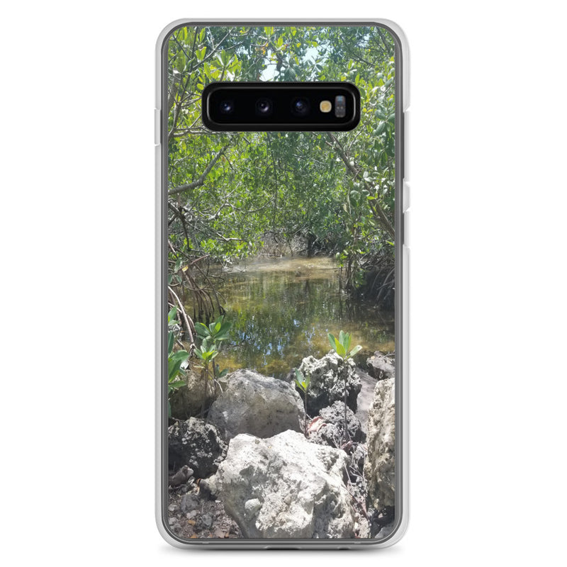 """Creeks"" Samsung Phone Case-Phone Case-Tropical Scenery-Samsung Galaxy S10+-Tropical Scenery"