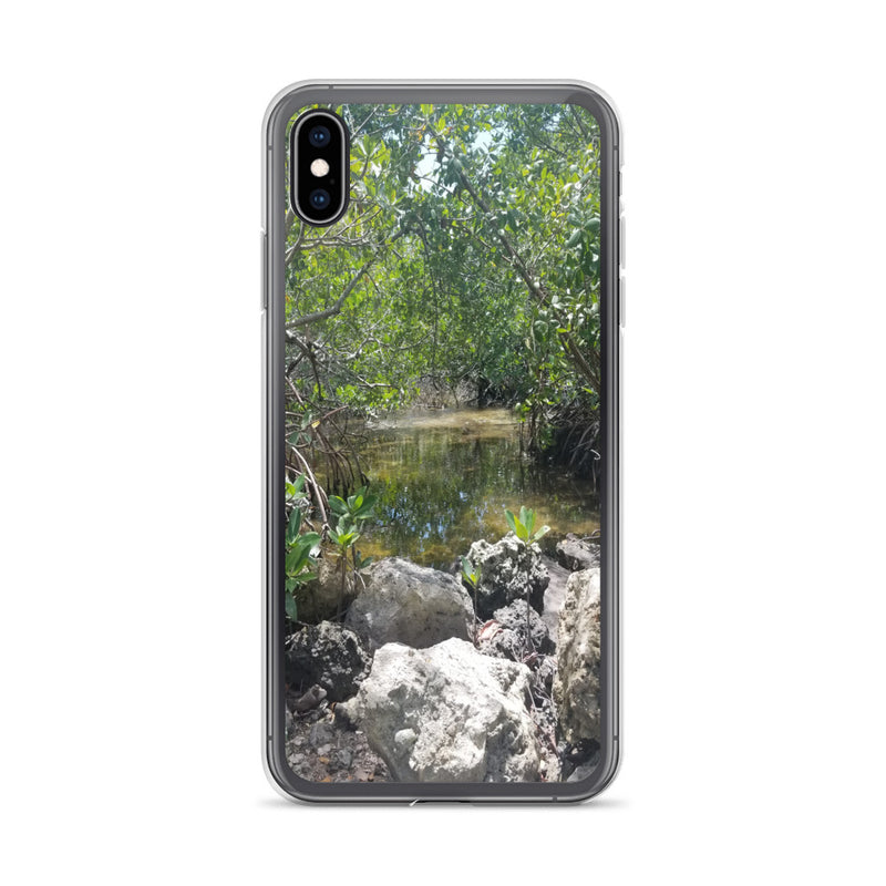"""Creeks"" iPhone Case-Phone Case-Tropical Scenery-iPhone XS Max-Tropical Scenery"