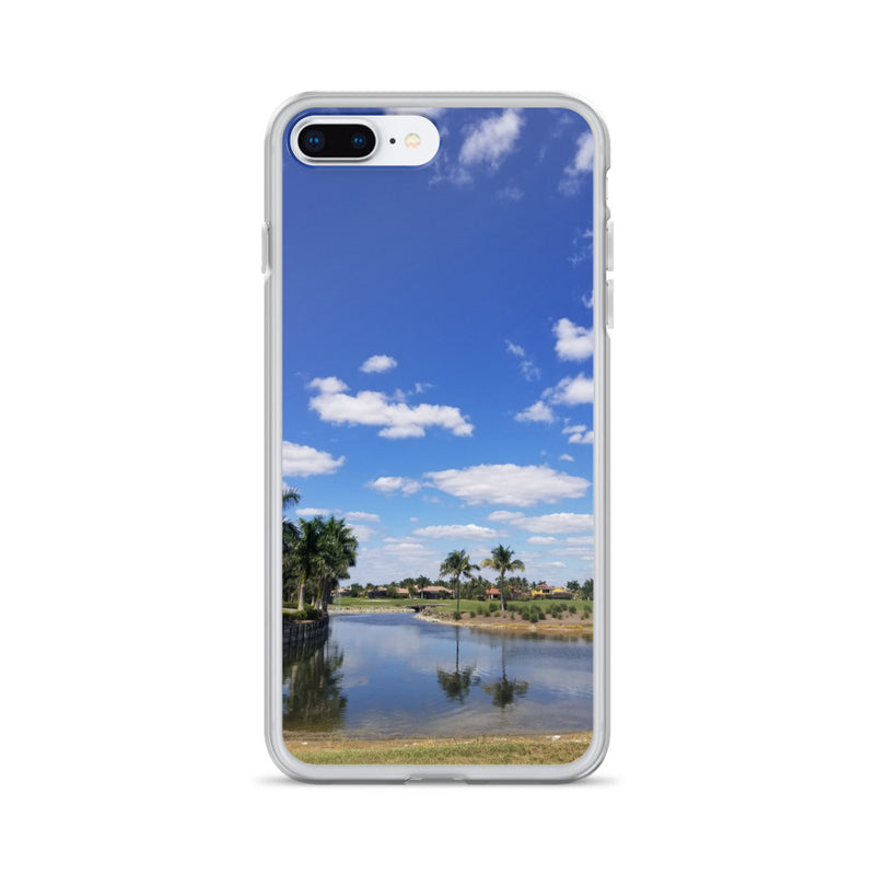 """A Day on the Course"" iPhone Case-Phone Case-Tropical Scenery-iPhone 7 Plus/8 Plus-Tropical Scenery"