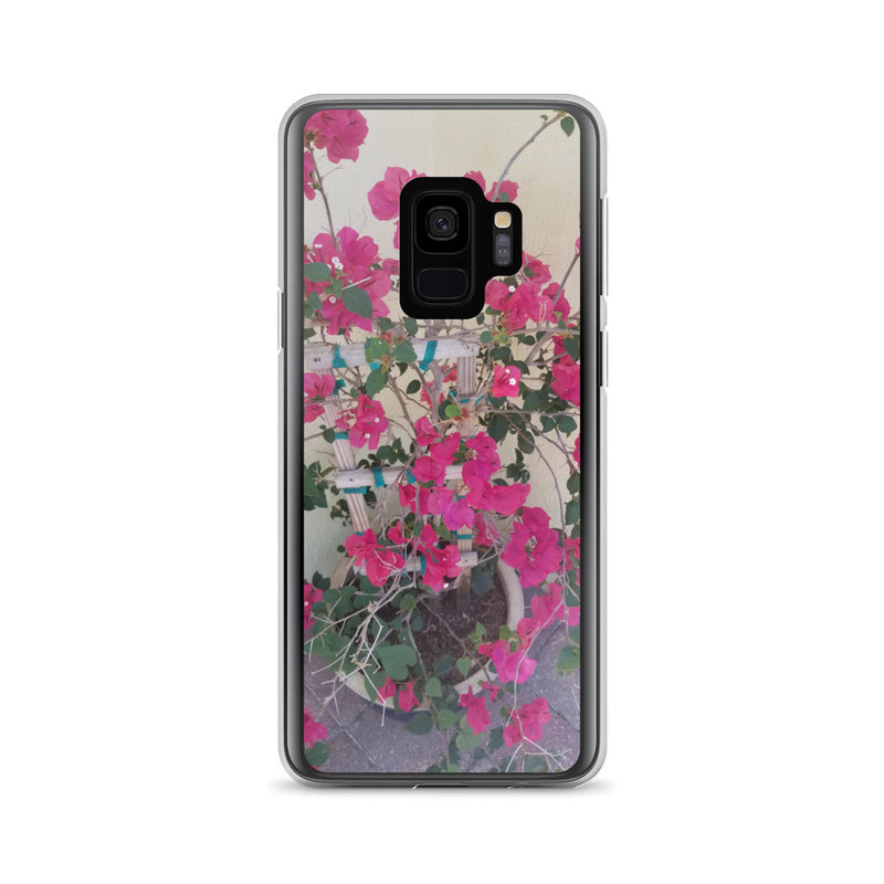 """Pretty in Pink"" Samsung Case-Phone Case-Tropical Scenery-Samsung Galaxy S9-Tropical Scenery"