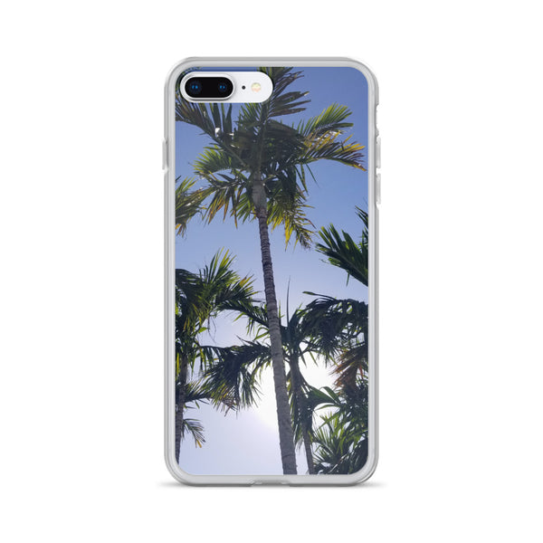 """High Palms"" iPhone Case-Phone Case-Tropical Scenery-iPhone 7 Plus/8 Plus-Tropical Scenery"