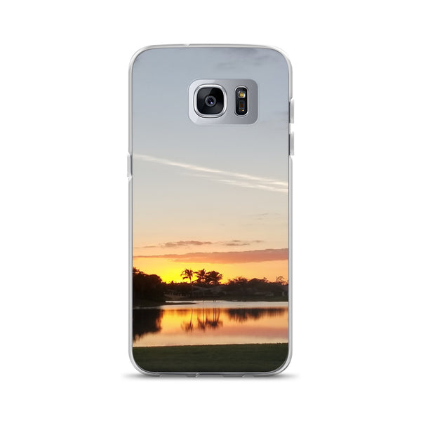"""Sundown"" Samsung Case-Phone Case-Tropical Scenery-Samsung Galaxy S7 Edge-Tropical Scenery"