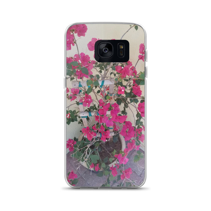 """Pretty in Pink"" Samsung Case-Phone Case-Tropical Scenery-Samsung Galaxy S7-Tropical Scenery"