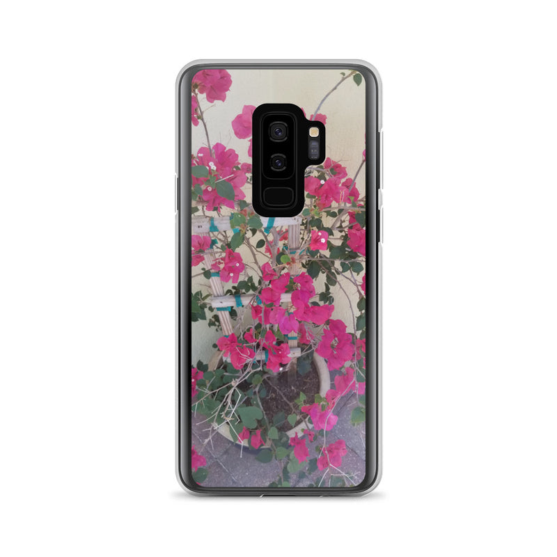 """Pretty in Pink"" Samsung Case-Phone Case-Tropical Scenery-Samsung Galaxy S9+-Tropical Scenery"