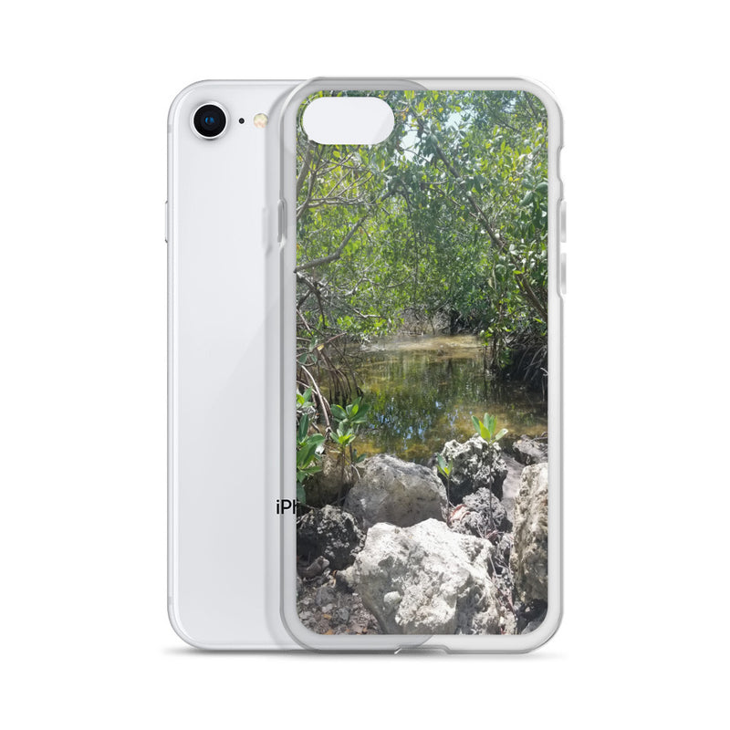 """Creeks"" iPhone Case-Phone Case-Tropical Scenery-Tropical Scenery"