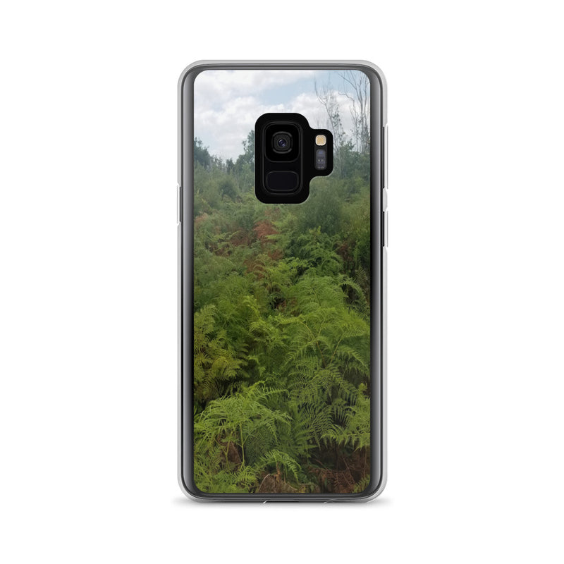 """Green on the Scene"" Samsung Phone Case-Phone Case-Tropical Scenery-Samsung Galaxy S9-Tropical Scenery"