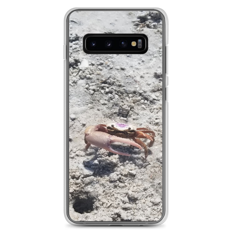 """Monsieur Crab"" Samsung Case-Phone Case-Tropical Scenery-Samsung Galaxy S10+-Tropical Scenery"