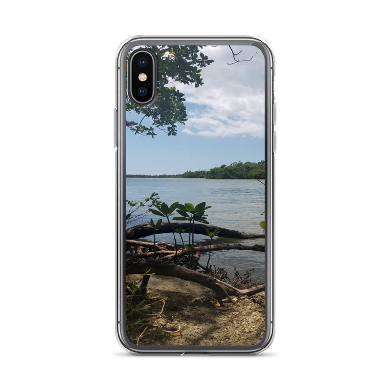 """Scenic View"" iPhone Case-Phone Case-Tropical Scenery-iPhone X/XS-Tropical Scenery"