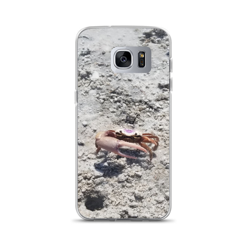 """Monsieur Crab"" Samsung Case-Phone Case-Tropical Scenery-Samsung Galaxy S7 Edge-Tropical Scenery"
