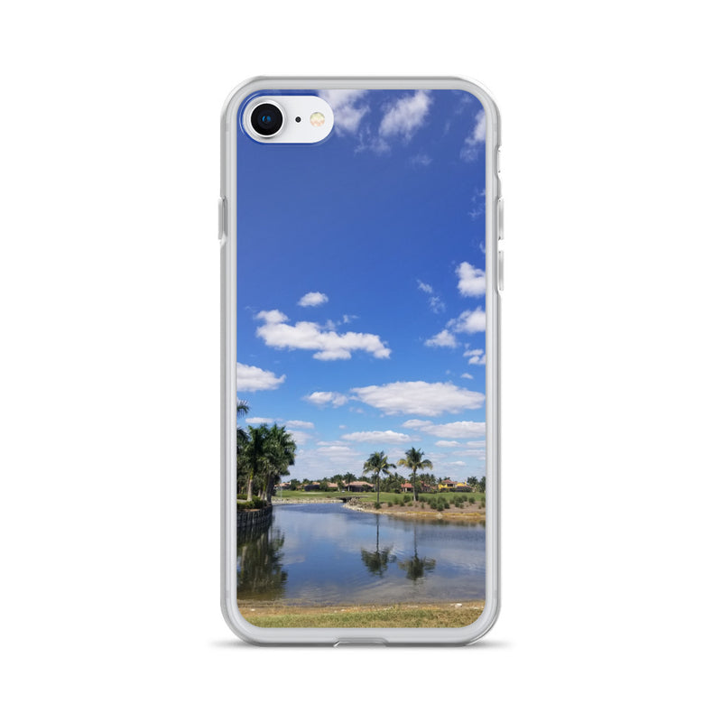 """A Day on the Course"" iPhone Case-Phone Case-Tropical Scenery-iPhone 7/8-Tropical Scenery"