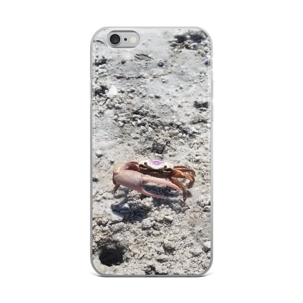 """Monsieur Crab"" iPhone Case-Phone Case-Tropical Scenery-iPhone 6 Plus/6s Plus-Tropical Scenery"