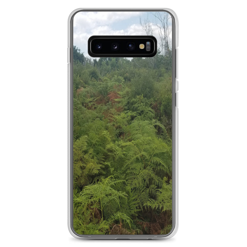 """Green on the Scene"" Samsung Phone Case-Phone Case-Tropical Scenery-Samsung Galaxy S10+-Tropical Scenery"
