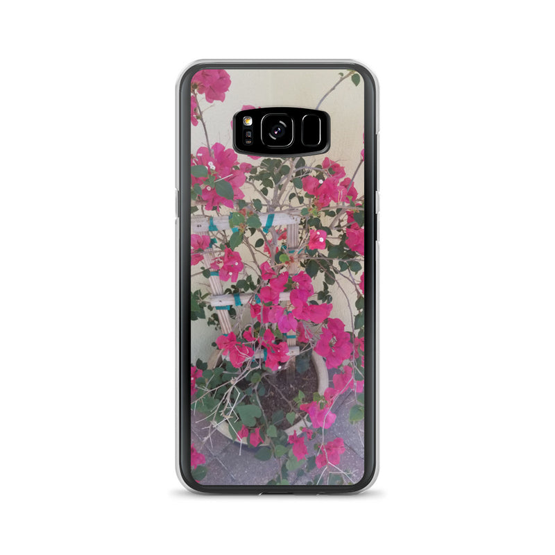 """Pretty in Pink"" Samsung Case-Phone Case-Tropical Scenery-Samsung Galaxy S8+-Tropical Scenery"