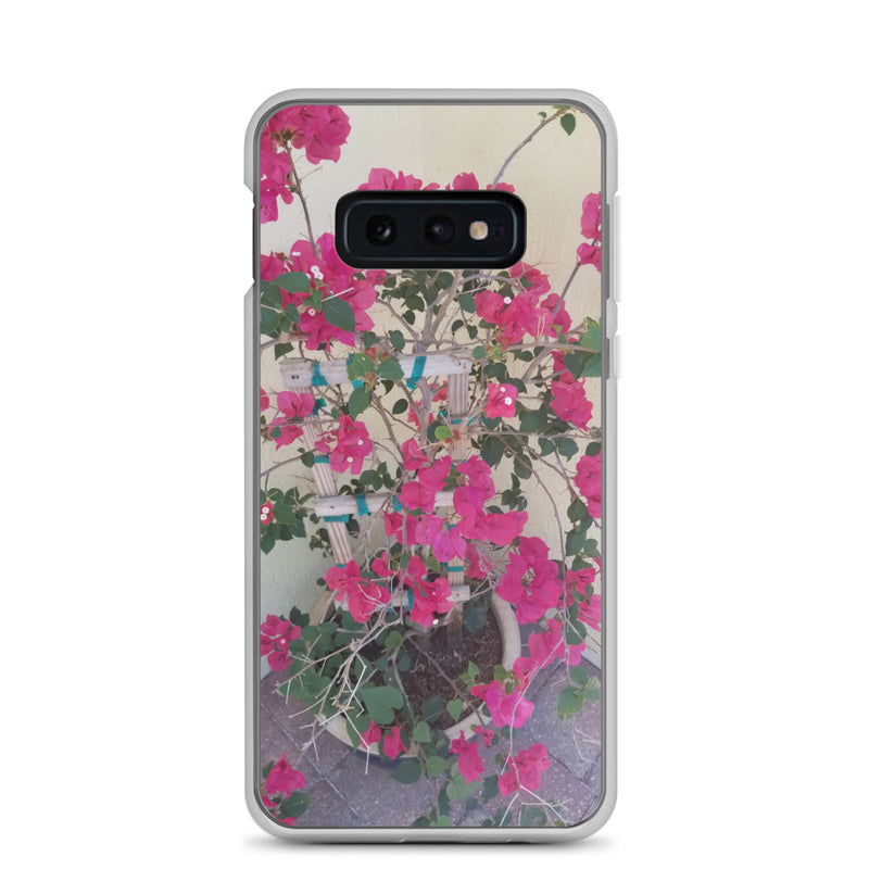 """Pretty in Pink"" Samsung Case-Phone Case-Tropical Scenery-Samsung Galaxy S10e-Tropical Scenery"
