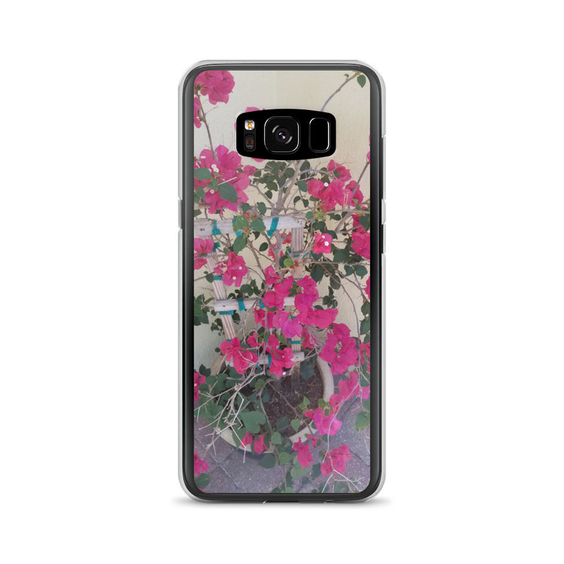 """Pretty in Pink"" Samsung Case-Phone Case-Tropical Scenery-Samsung Galaxy S8-Tropical Scenery"