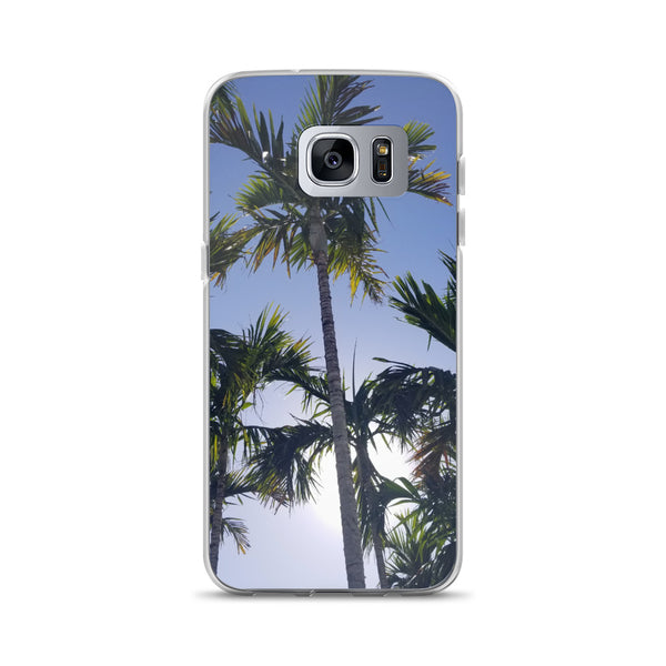 """High Palms"" Samsung Case-Phone Case-Tropical Scenery-Samsung Galaxy S7 Edge-Tropical Scenery"