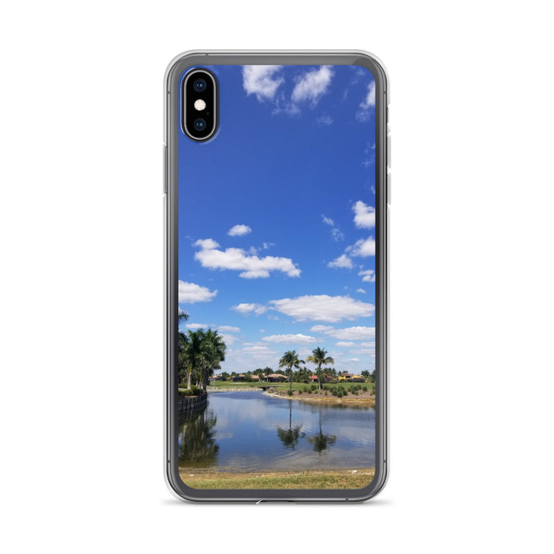 """A Day on the Course"" iPhone Case-Phone Case-Tropical Scenery-iPhone XS Max-Tropical Scenery"