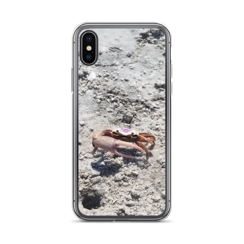 """Monsieur Crab"" iPhone Case-Phone Case-Tropical Scenery-iPhone X/XS-Tropical Scenery"