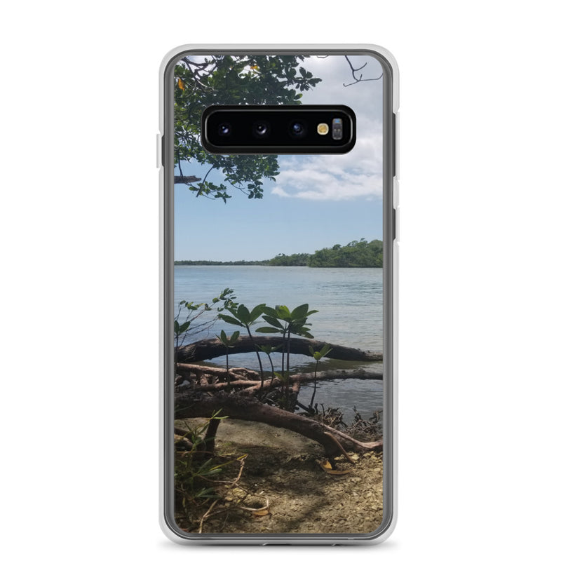 """Scenic View"" Samsung Case-Phone Case-Tropical Scenery-Samsung Galaxy S10-Tropical Scenery"