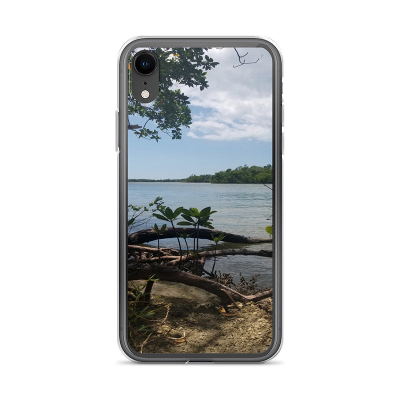 """Scenic View"" iPhone Case-Phone Case-Tropical Scenery-iPhone XR-Tropical Scenery"