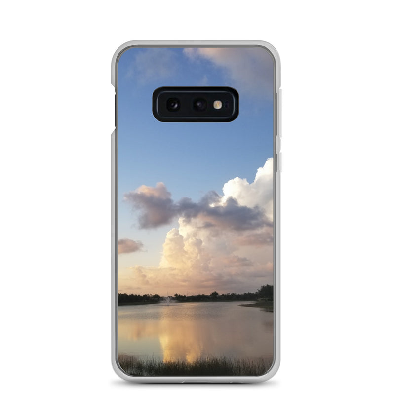 """Golden Haze"" Samsung Phone Case-Phone Case-Tropical Scenery-Samsung Galaxy S10e-Tropical Scenery"