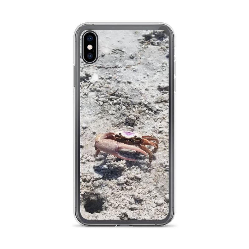 """Monsieur Crab"" iPhone Case-Phone Case-Tropical Scenery-iPhone XS Max-Tropical Scenery"