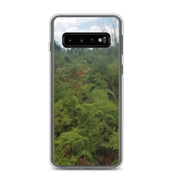 """Green on the Scene"" Samsung Phone Case-Phone Case-Tropical Scenery-Samsung Galaxy S10-Tropical Scenery"
