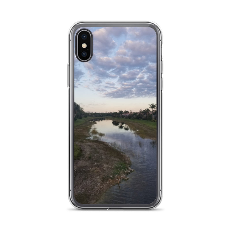 """River Sky"" iPhone Case-Phone Case-Tropical Scenery-iPhone X/XS-Tropical Scenery"