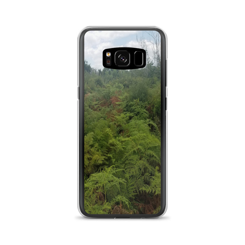 """Green on the Scene"" Samsung Phone Case-Phone Case-Tropical Scenery-Samsung Galaxy S8-Tropical Scenery"