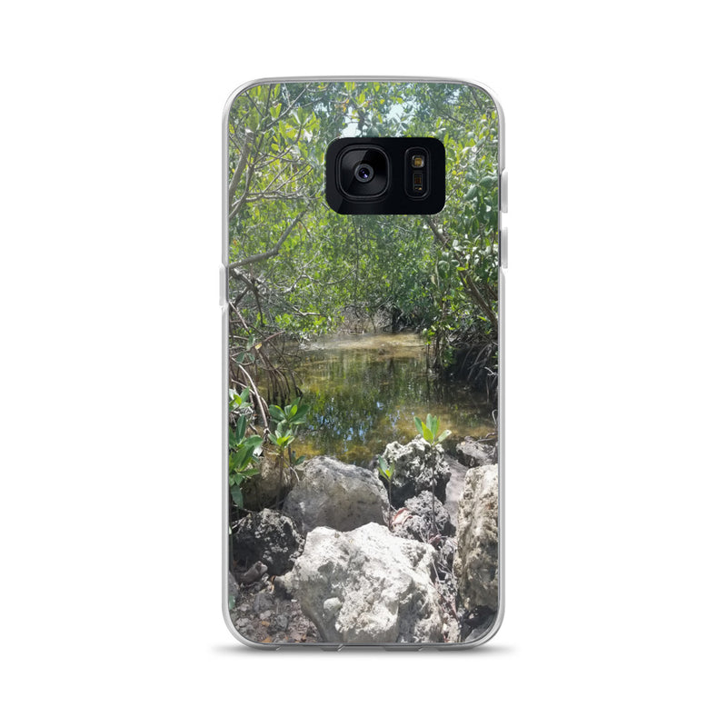 """Creeks"" Samsung Phone Case-Phone Case-Tropical Scenery-Samsung Galaxy S7-Tropical Scenery"