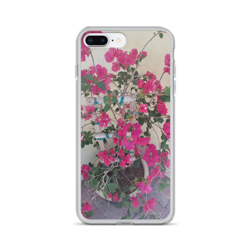 """Pretty in Pink"" iPhone Case-Phone Case-Tropical Scenery-iPhone 7 Plus/8 Plus-Tropical Scenery"