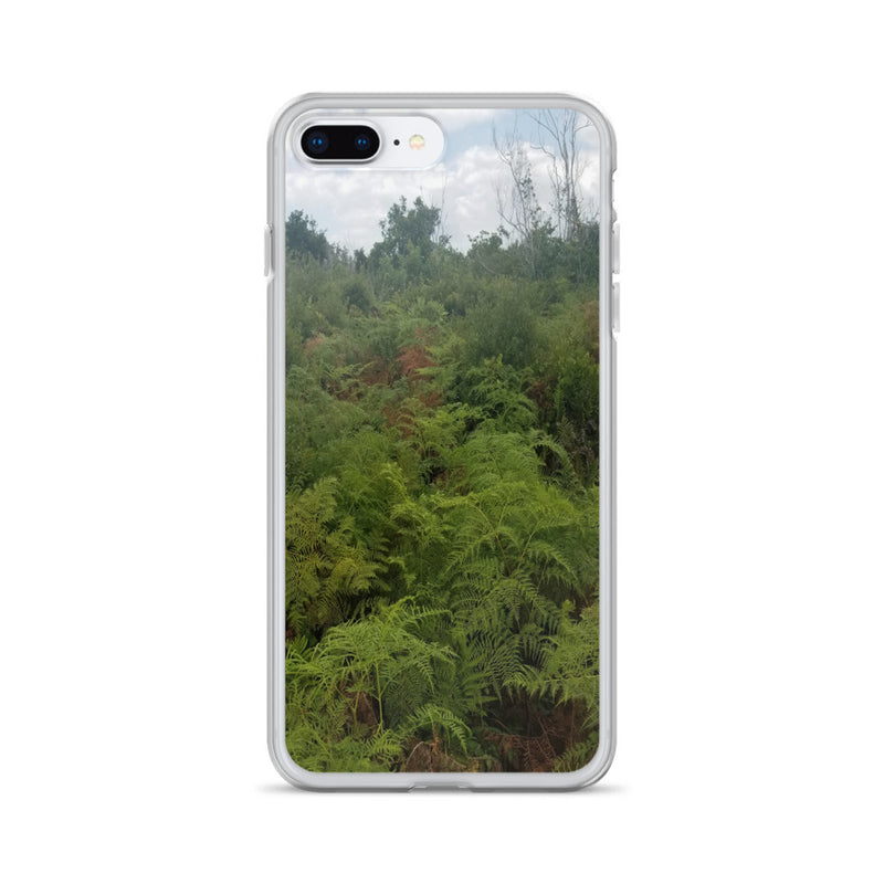 """Green on the Scene"" iPhone Case-Phone Case-Tropical Scenery-iPhone 7 Plus/8 Plus-Tropical Scenery"
