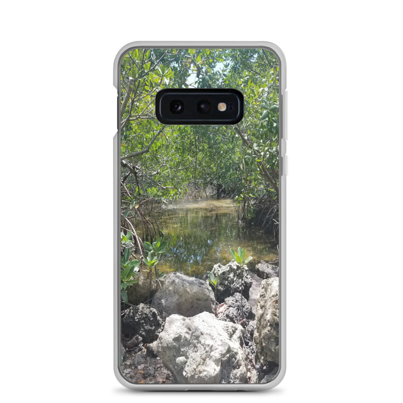 """Creeks"" Samsung Phone Case-Phone Case-Tropical Scenery-Samsung Galaxy S10e-Tropical Scenery"