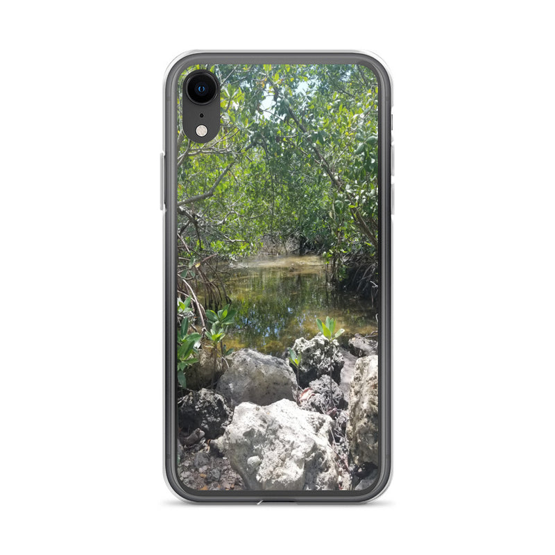 """Creeks"" iPhone Case-Phone Case-Tropical Scenery-iPhone XR-Tropical Scenery"