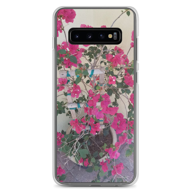 """Pretty in Pink"" Samsung Case-Phone Case-Tropical Scenery-Samsung Galaxy S10+-Tropical Scenery"