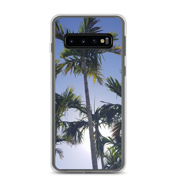"""High Palms"" Samsung Case-Phone Case-Tropical Scenery-Samsung Galaxy S10-Tropical Scenery"