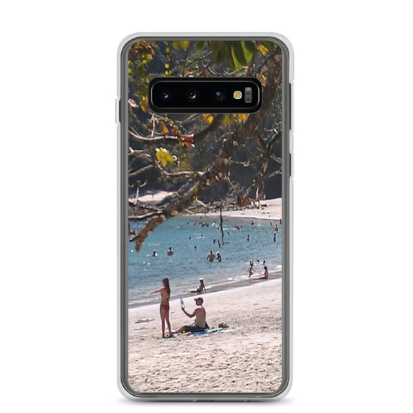 """La Playa"" Samsung Phone Case-Phone Case-Tropical Scenery-Samsung Galaxy S10-Tropical Scenery"
