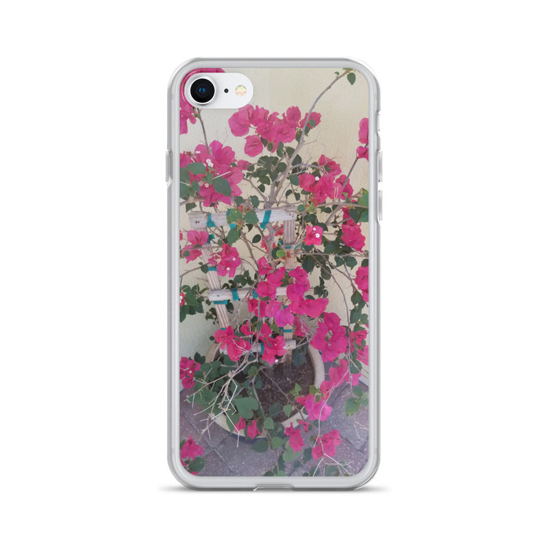 """Pretty in Pink"" iPhone Case-Phone Case-Tropical Scenery-iPhone 7/8-Tropical Scenery"