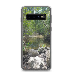 """Creeks"" Samsung Phone Case-Phone Case-Tropical Scenery-Samsung Galaxy S10-Tropical Scenery"