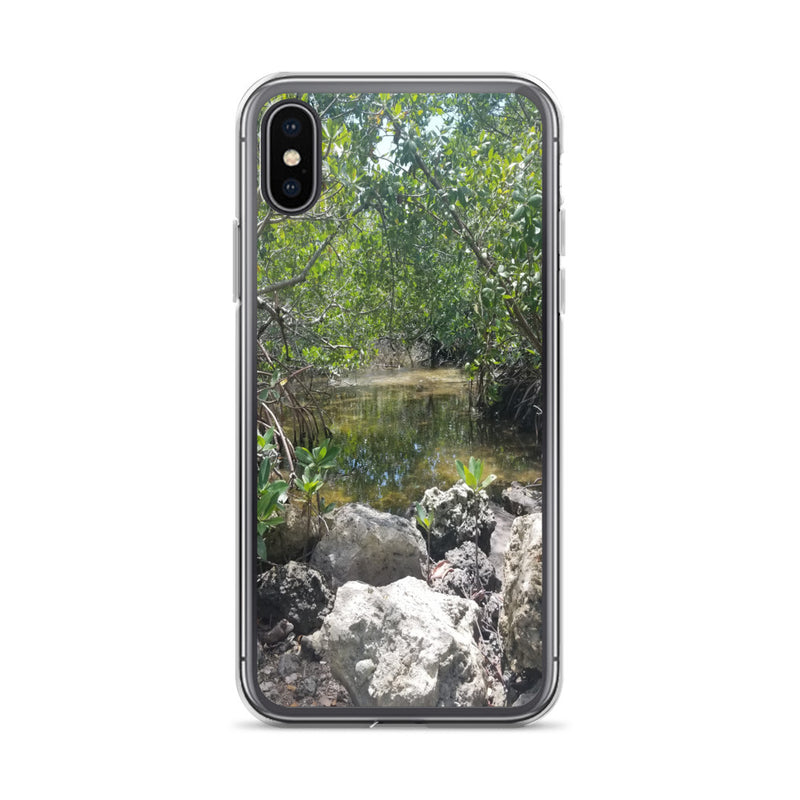 """Creeks"" iPhone Case-Phone Case-Tropical Scenery-iPhone X/XS-Tropical Scenery"