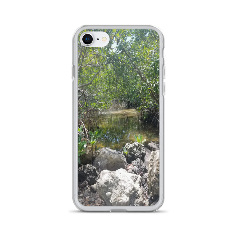 """Creeks"" iPhone Case-Phone Case-Tropical Scenery-iPhone 7/8-Tropical Scenery"
