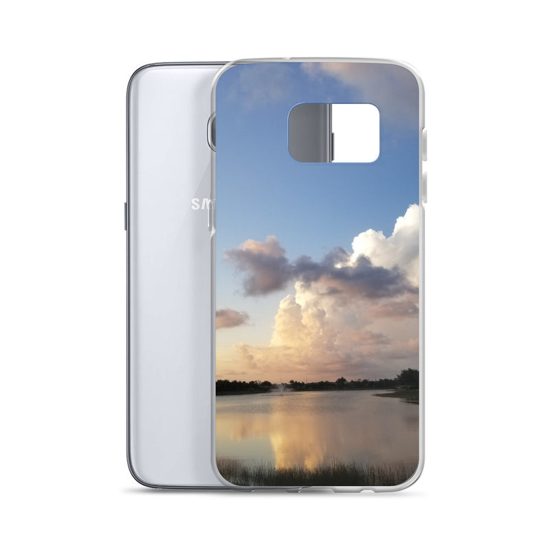 """Golden Haze"" Samsung Phone Case-Phone Case-Tropical Scenery-Tropical Scenery"
