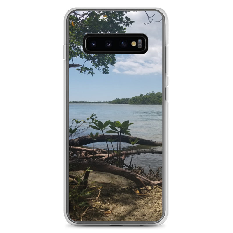"""Scenic View"" Samsung Case-Phone Case-Tropical Scenery-Samsung Galaxy S10+-Tropical Scenery"