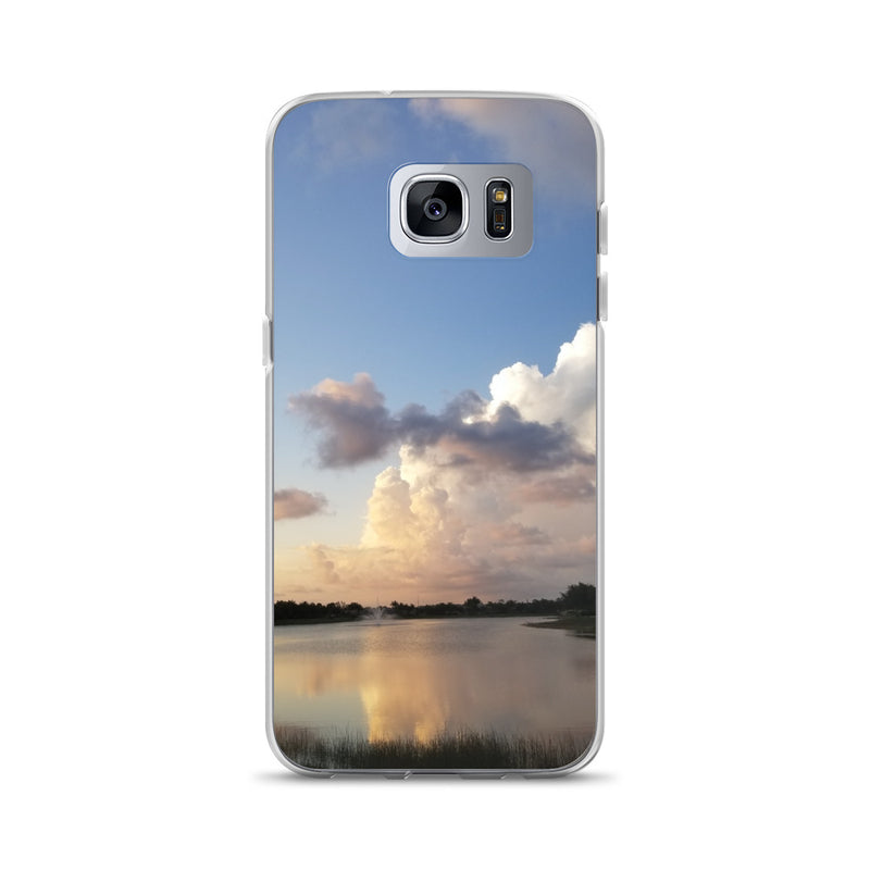 """Golden Haze"" Samsung Phone Case-Phone Case-Tropical Scenery-Samsung Galaxy S7 Edge-Tropical Scenery"